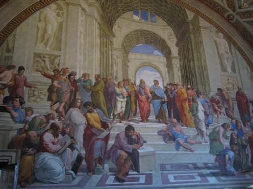 139 Vatican Museums - La Scuola d Atene by Raphael.jpg