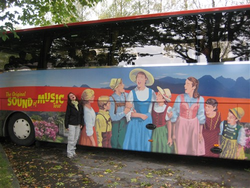 13 Our tour bus and an aspiring member of the Von Trapp family.jpg